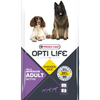 Opti Life Adult Active All Breeds koeratoit kana/riis