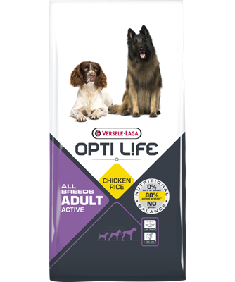 Opti Life Adult Active All Breeds koeratoit kana/riis